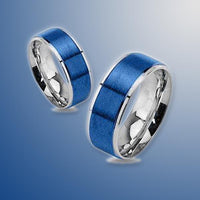 Stainless Steel Thin Blue Line Ring Jewelry Defend The Line Apparel