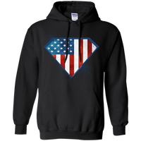Super USA Hoodie Sweatshirts CustomCat Black Small