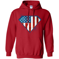 Super USA Hoodie Sweatshirts CustomCat Red Small
