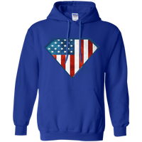 Super USA Hoodie Sweatshirts CustomCat Royal Small