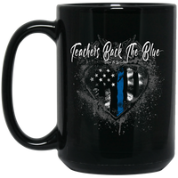 Teachers Back The Blue Coffee Mug Drinkware Black One Size
