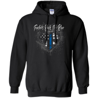 Teachers Back the Thin Blue Line Hoodie Sweatshirts Black S