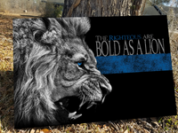 The Righteous Are Bold As a Lion Canvas Decor ViralStyle