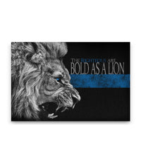 The Righteous Are Bold As a Lion Canvas Decor ViralStyle Premium OS Canvas - Landscape 18x12*