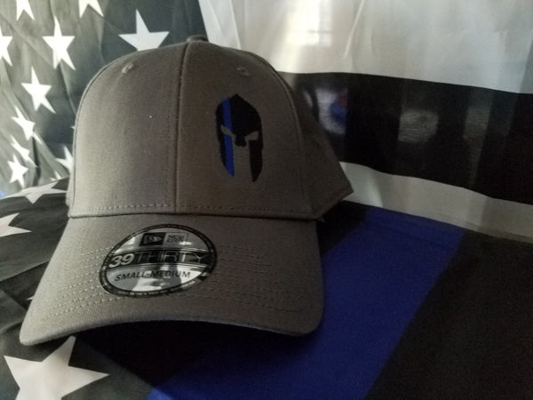 The Spartan TBL Smoke Gray Fitted Hat Defend The Line Apparel