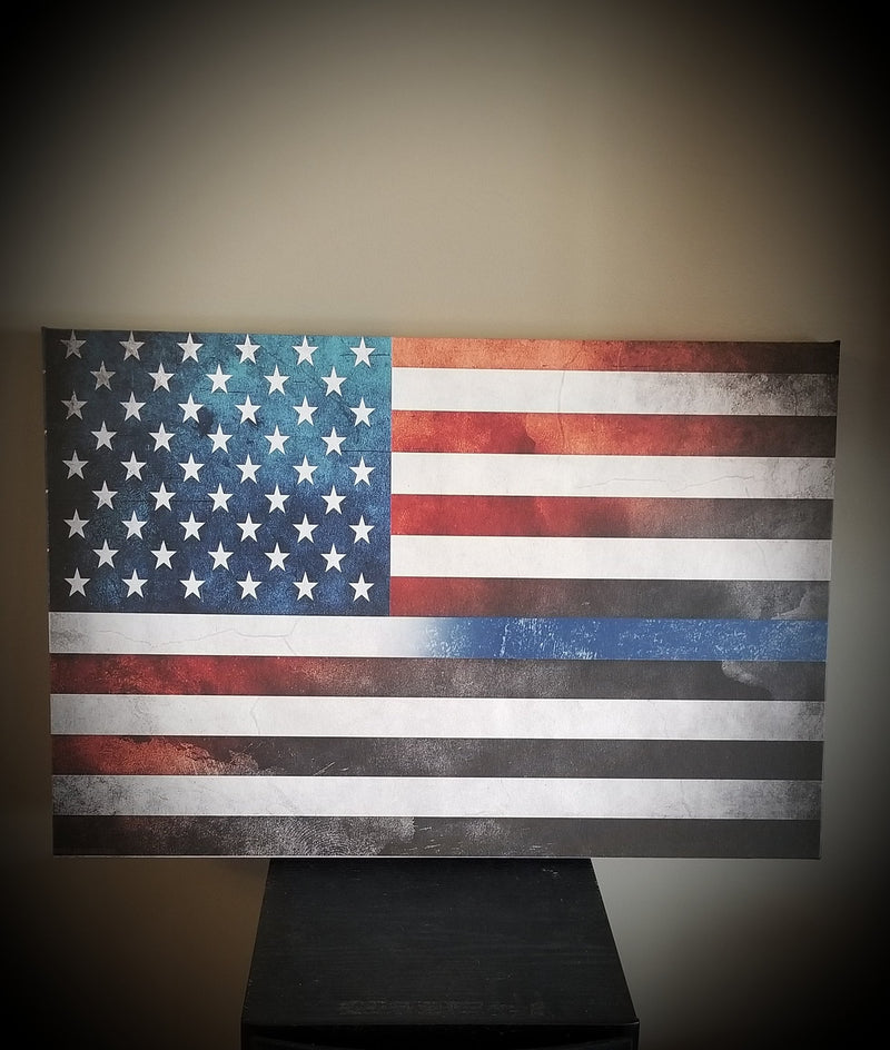 products/thin-blue-line-american-flag-canvas-decor-644977.jpg