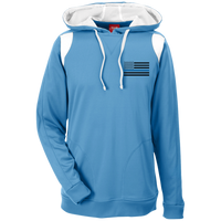 Thin Blue Line Apparel: Black Ops Performance Hoodie For Him Sweatshirts CustomCat Light Blue/White X-Small