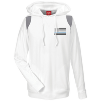 Thin Blue Line Apparel: Black Ops Performance Hoodie For Him Sweatshirts CustomCat White/Graphite X-Small