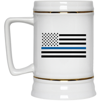 Thin Blue Line Beer Stein Drinkware White One Size