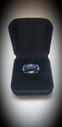 Thin Blue Line Ceramic Ring Defend The Line Apparel