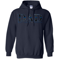 Thin Blue Line Dad Hoodie Sweatshirts CustomCat Navy Small
