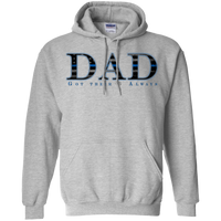 Thin Blue Line Dad Hoodie Sweatshirts CustomCat Sport Grey Small