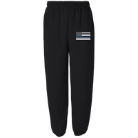 Thin Blue Line Embroidered Fleece Sweatpants Pants Black S