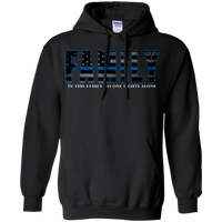 Thin Blue Line Family Hoodie Sweatshirts CustomCat Black Small