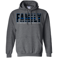Thin Blue Line Family Hoodie Sweatshirts CustomCat Dark Heather Small
