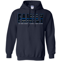 Thin Blue Line Family Hoodie Sweatshirts CustomCat Navy Small