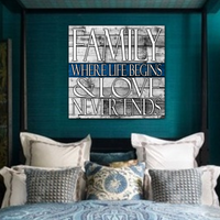 Thin Blue Line Family Square Canvas Decor ViralStyle