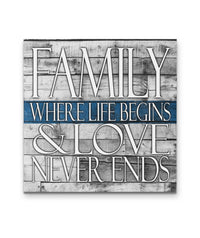 Thin Blue Line Family Square Canvas Decor ViralStyle Premium OS Canvas - Square 16x16*