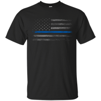 Thin Blue Line Flag Shirt T-Shirts CustomCat