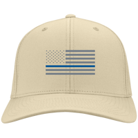 Thin Blue Line Flexfit Hat Hats CustomCat Stone S/M