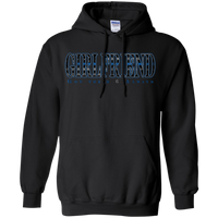 Thin Blue Line Girlfriend Hoodie Sweatshirts CustomCat Black Small
