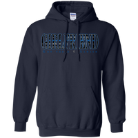 Thin Blue Line Girlfriend Hoodie Sweatshirts CustomCat Navy Small