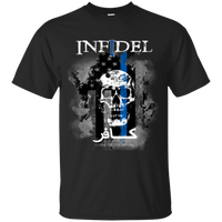 Thin Blue Line Infidel T-Shirt T-Shirts CustomCat