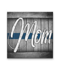 Thin Blue Line Mom Canvas Decor ViralStyle Premium OS Canvas - Square 16x16*