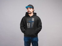 Thin Blue Line One Nation Under God Hoodie Sweatshirts