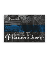 Thin Blue Line Peacemakers Canvas Decor ViralStyle Premium OS Canvas - Landscape 18x12*