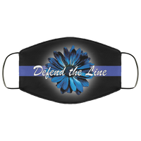 Thin Blue Line Sunflower Face Cover Accessories Black One Size