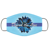 Thin Blue Line Sunflower Face Cover Accessories Columbia Blue One Size