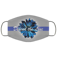 Thin Blue Line Sunflower Face Cover Accessories Gray One Size