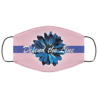 Thin Blue Line Sunflower Face Cover Accessories Pink One Size