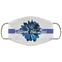 Thin Blue Line Sunflower Face Cover Accessories White One Size