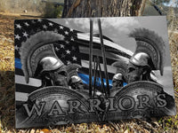 Thin Blue Line Warriors Canvas Decor ViralStyle