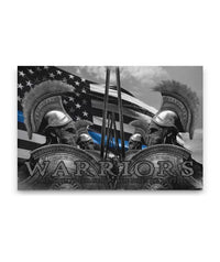 Thin Blue Line Warriors Canvas Decor ViralStyle Premium OS Canvas - Landscape 48x32*