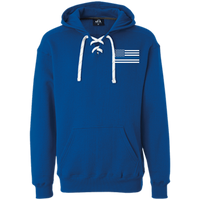 Thin Blue Line White Heavyweight Performance Hoodie Sweatshirts CustomCat Royal X-Small