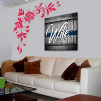 Thin Blue Line Wife Canvas Decor ViralStyle