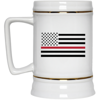 Thin Red Line Beer Stein Drinkware White One Size