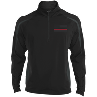 Thin Red Line Black Ops Half Zip Performance Pullover Jackets CustomCat Black/Charcoal Grey X-Small