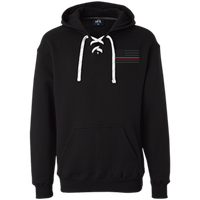 Thin Red Line Black Ops Heavyweight Performance Hoodie Sweatshirts CustomCat Black X-Small