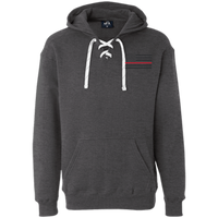 Thin Red Line Black Ops Heavyweight Performance Hoodie Sweatshirts CustomCat Charcoal Heather X-Small