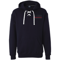 Thin Red Line Black Ops Heavyweight Performance Hoodie Sweatshirts CustomCat Navy X-Small