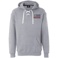 Thin Red Line Black Ops Heavyweight Performance Hoodie Sweatshirts CustomCat Oxford X-Small