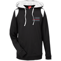 Thin Red Line Delta Ops Performance Hoodie Sweatshirts CustomCat Black/White X-Small