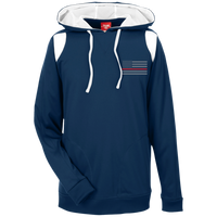 Thin Red Line Delta Ops Performance Hoodie Sweatshirts CustomCat Dark Navy/White X-Small
