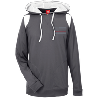 Thin Red Line Delta Ops Performance Hoodie Sweatshirts CustomCat Graphite/White X-Small