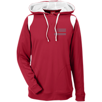 Thin Red Line Delta Ops Performance Hoodie Sweatshirts CustomCat Scarlet Red/White X-Small