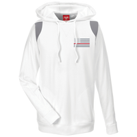 Thin Red Line Delta Ops Performance Hoodie Sweatshirts CustomCat White/Graphite X-Small